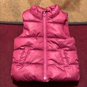 Little girls puffer vest Sz 12/18mths by Old Navy